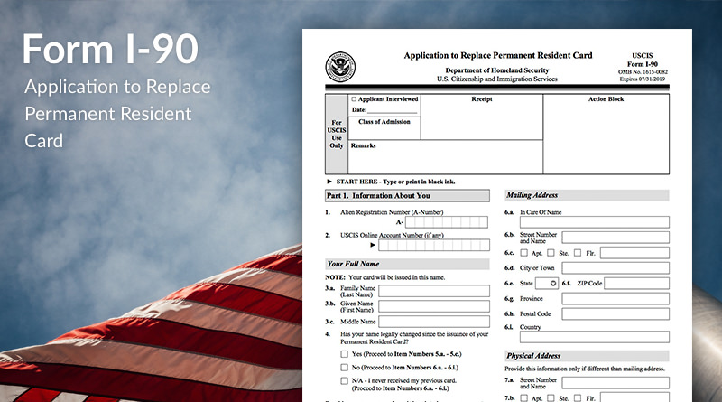 Uscis Green Card Renewal Form I 90 | Infocard.co