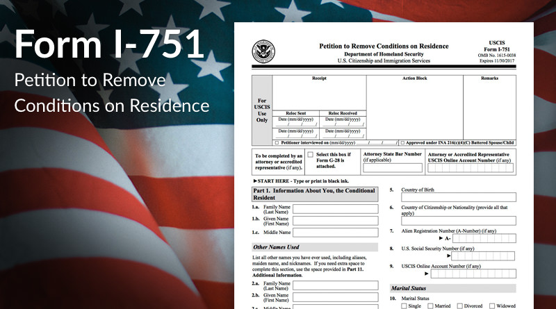 Image result for Forms I-751, Petition to Remove Conditions on Residence