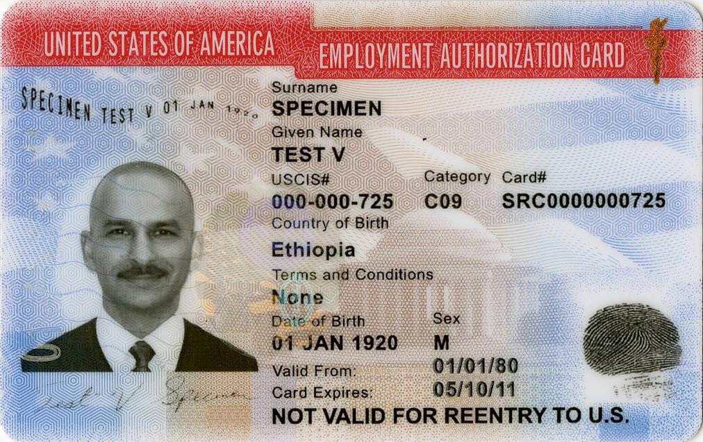 I-765 EAD Card
