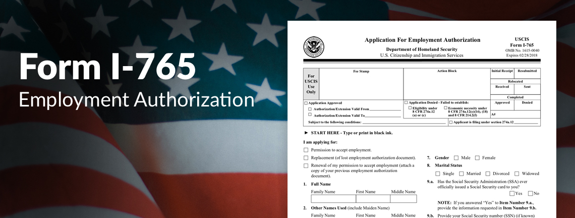 What Is Uscis Form I 765 Employment Authorization Document