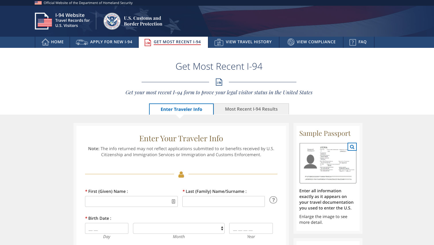 How Do I Find My Form I-94? - Immigration Learning Center