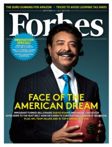 Shahid Khan - Face of the American Dream - Forbes Cover