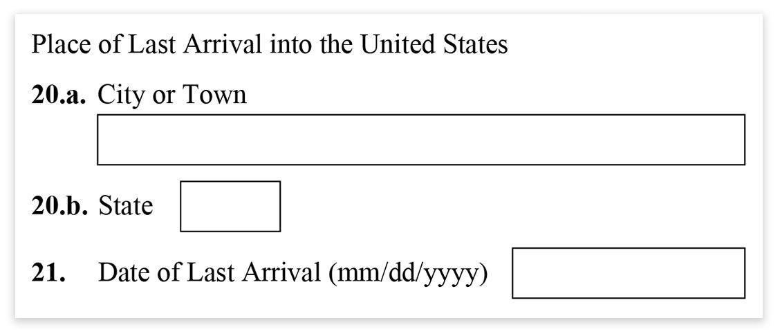 Form I-485 - Part 1