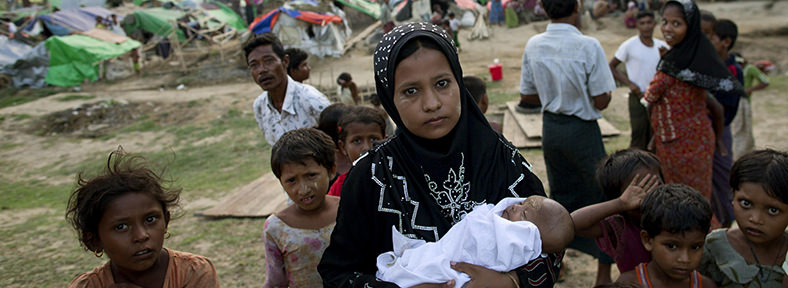 Rohingya Refugee Mother with Kids