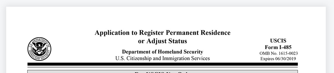 Form I 485 Instructions Immigration Learning Center