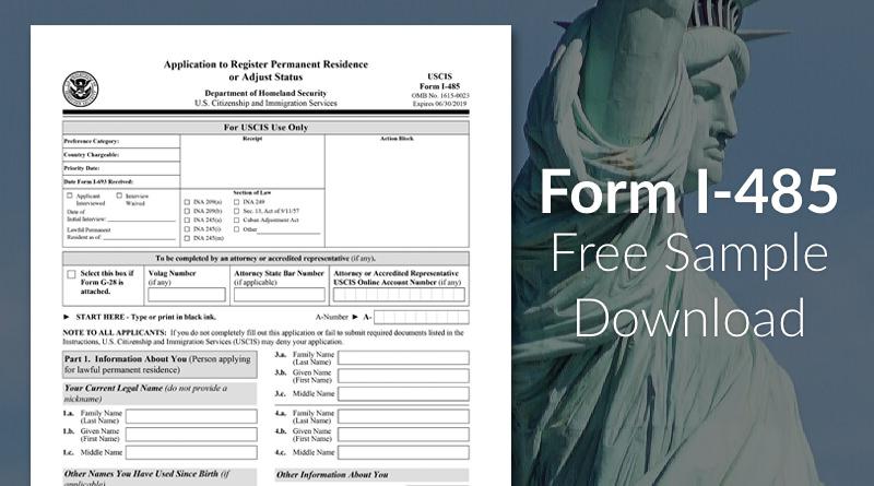 Form I 485 Sample Download Immigration Learning Center