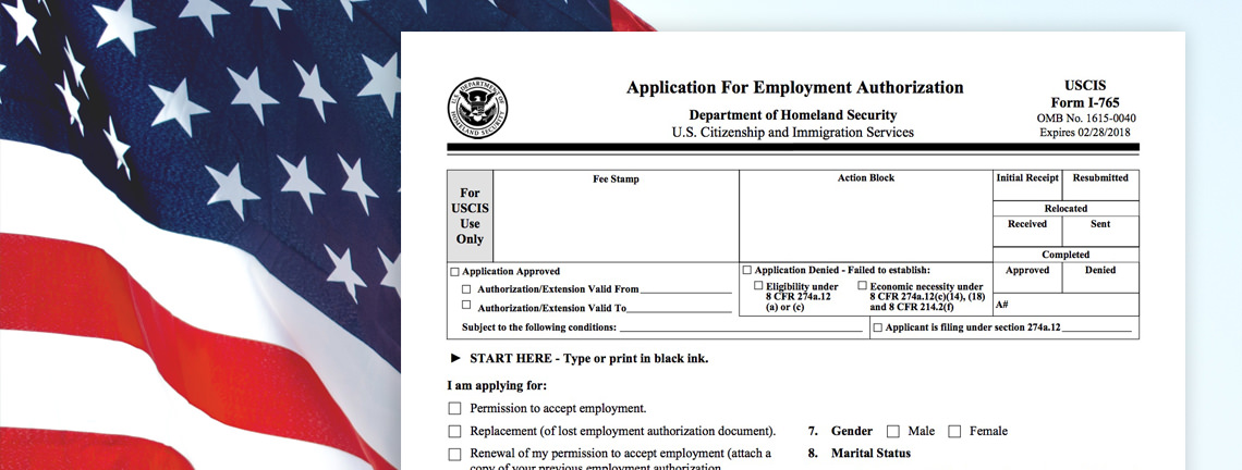 Form I 765 Step By Step Guide Employment Authorization