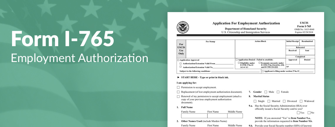 what is the uscis form i 765 filing fee simplecitizen