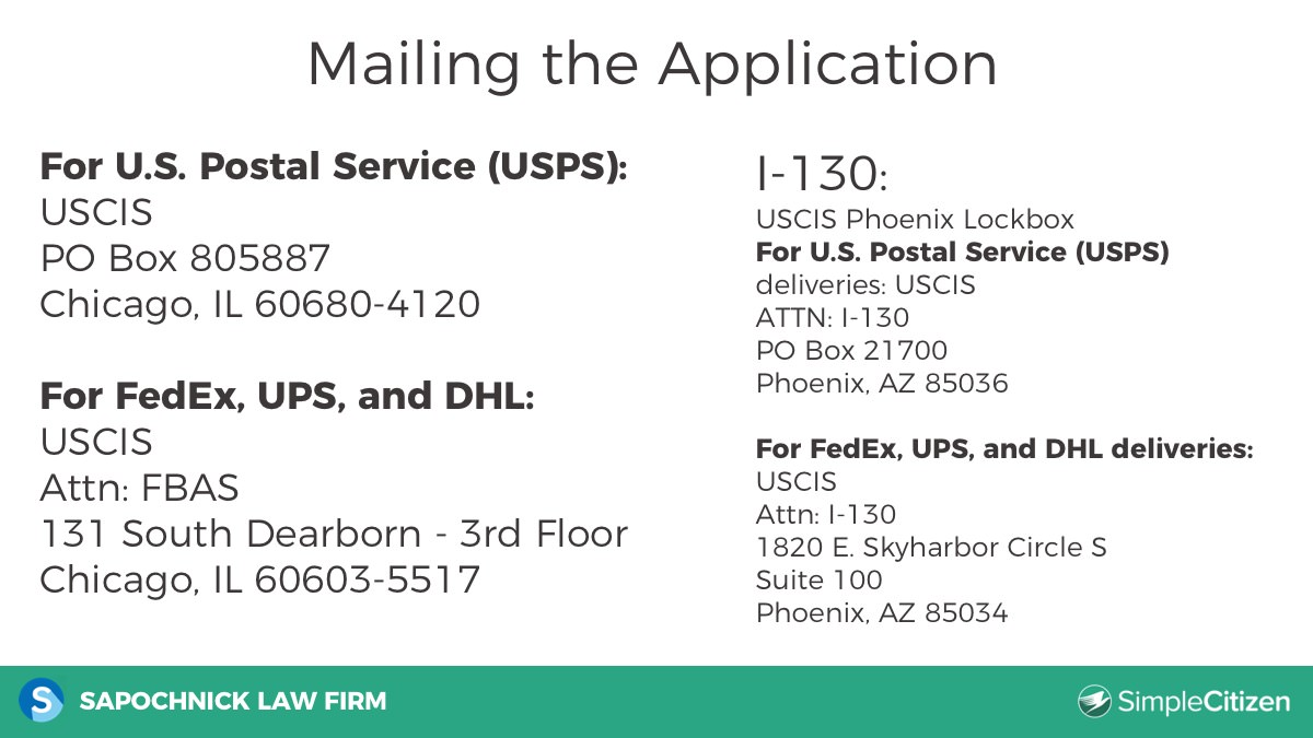 20 mail address - Immigration Learning Center